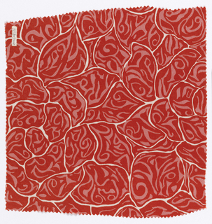 Textile, Abstract Rose