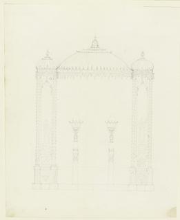 Drawing, Lamp Standards and Wall Decoration, Royal Pavilion, Brighton