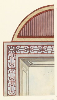 Drawing, Ceiling Decoration, probably for the Conservatory/Music Room