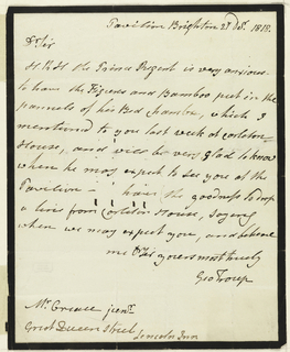 Letter: several lines of text.