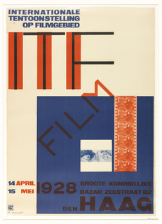 Poster, ITF Internationale tentoonstelling op filmgebied (International Film Exhibition)