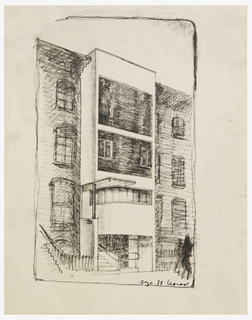 Print, Townhouse, 211 East 48th Street, New York, NY: Perspective Rendering