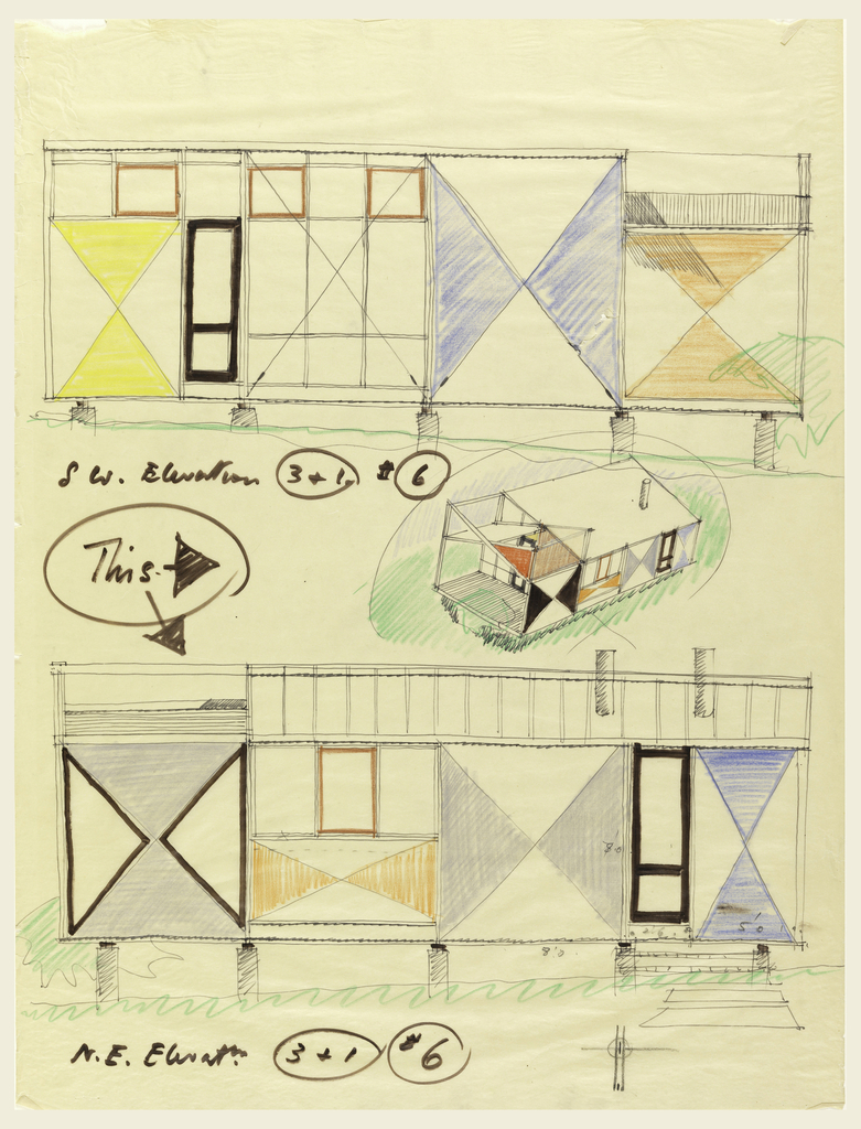 Drawing, Architect's Own Studio, Wellfleet, MA