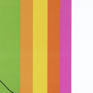 On a white ground, a rectangle with concentric rectangles in magenta, orange, yellow and at the center green envelope.. Above, in black ink: Take a letter, Ms. Smith.
