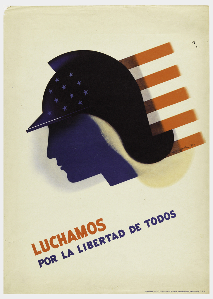 Poster, Luchamos por la Libertad de Todos (We Fight for the Freedom of All)