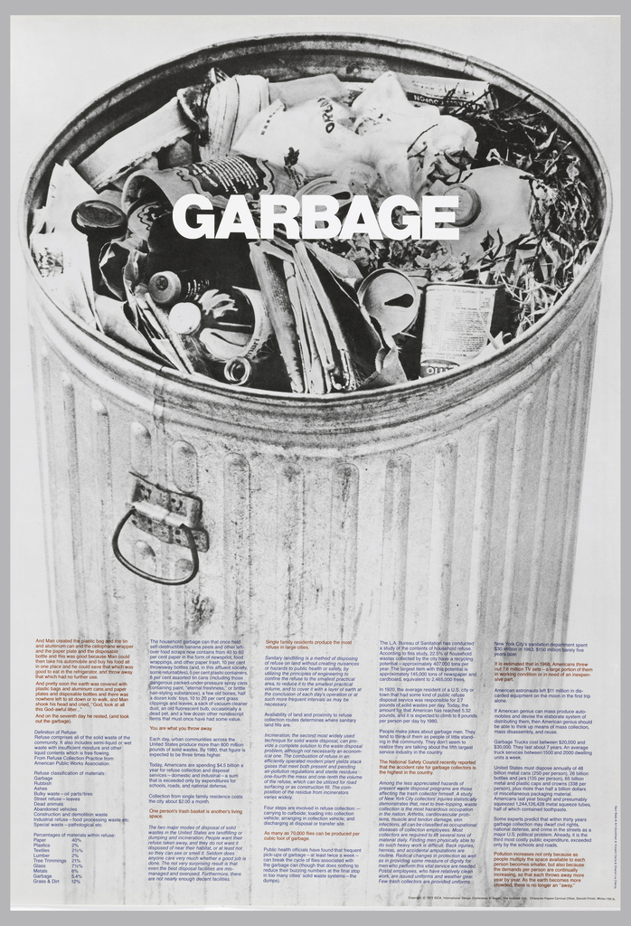 Poster, GARBAGE