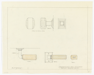 Drawing, Apartment for Mr. and Mrs. Maurice Benjamin: Suggestions for Hardware