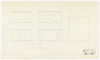 Plan of apartment's dining room.