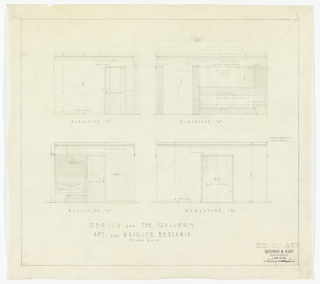 Four designs for gallery elevations.