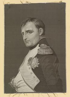 Woven portrait of Napoleon I (1769-1821) of France.