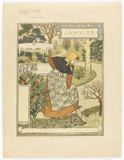 Print, January, from La Belle Jardinière
