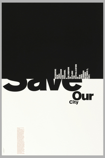 Poster, Save Our City