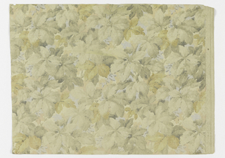 Neutral foliage design. Medium-scale assymetrical leaf design in soft neutral shades.