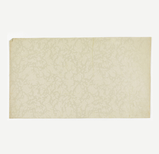 Design resembles vermiculated work and is frosted. Ivory field with design frosted in ivory.
