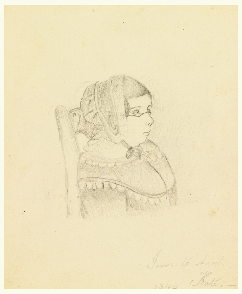 "Drawing, Portrait of Aunt Alicia McNeill (""Aunt Kate"")"