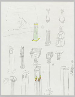 Drawing, Designs for Floor Lamps