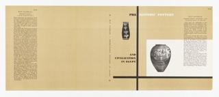 Book Cover, Pre Historic Pottery and Civilization in Egypt