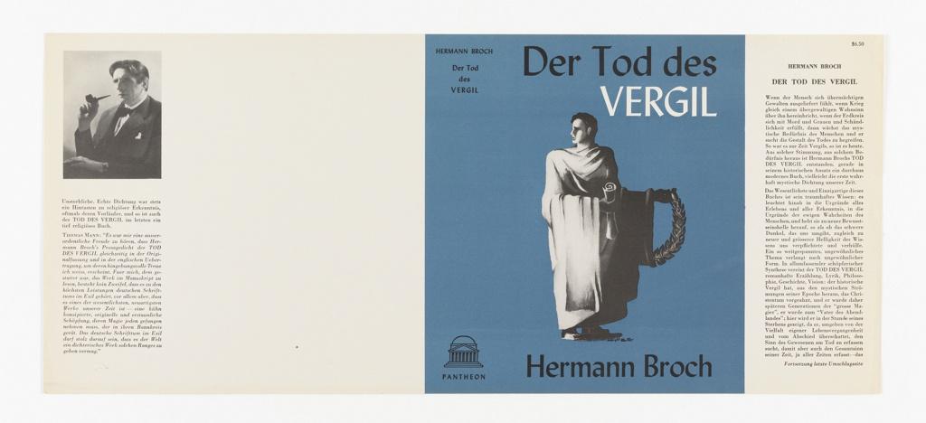 Book Jacket, Der Tod des Vergil by Hermann Broch
