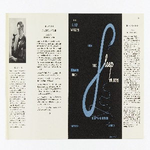 On a black ground with white and blue text throughout. Cover reads: A NOVEL / THE Sleep WALKERS / HERMANN BROCH / PANTHEON. On spine: THE / SLEEP- / WALKERS / HERMANN / BROCH / PANTHEON.