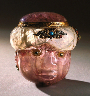 Snuff box in shape of a man with turban Snuff Box