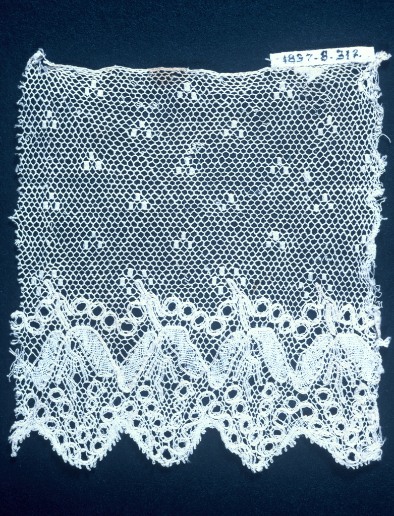 Fragment of Lille type bobbin lace