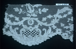 Fragment of Lille style bobbin lace