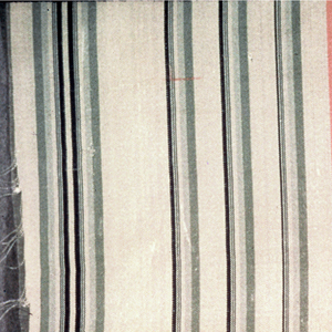 Lightweight silk in vertical stripes of pink, white, green and black.