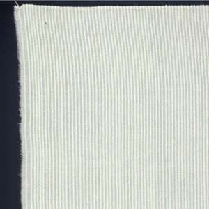 All white fabric. Horizontal ribs created by extra heavy wefts threads.