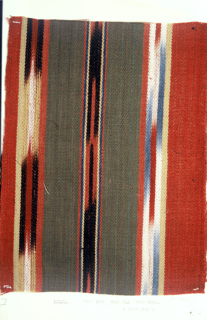 Loose-leaf notebook of swatches and samples of ikat warps and fabrics assembled by Charles Ikle.