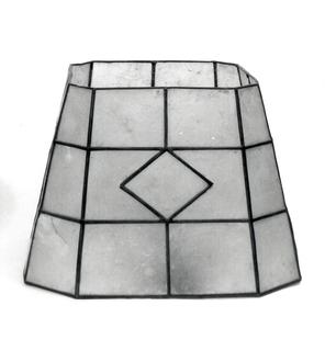 """Lamp shade of """"kapiz"""" shell in leaded framing."""