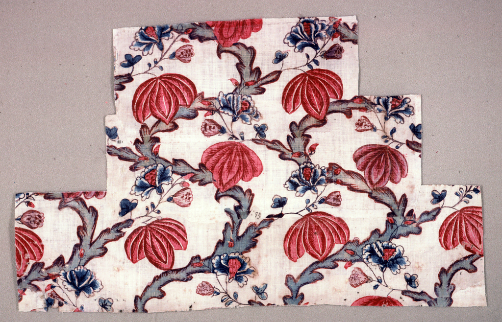 Curving stems with umbrella-like blossoms. Three pieces glued together. (chintz)