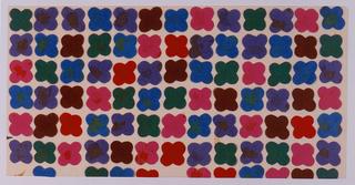 Collage, Textile Design: Quatrefoil, nos. 625-630