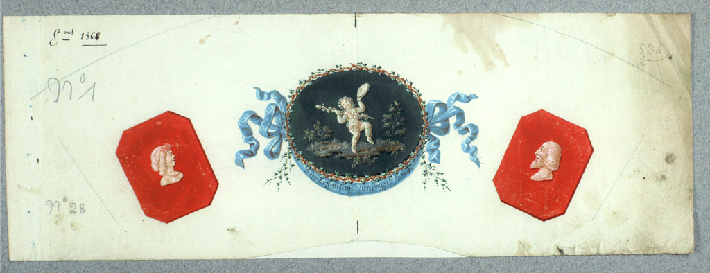 Fan design consisting of 3 images: