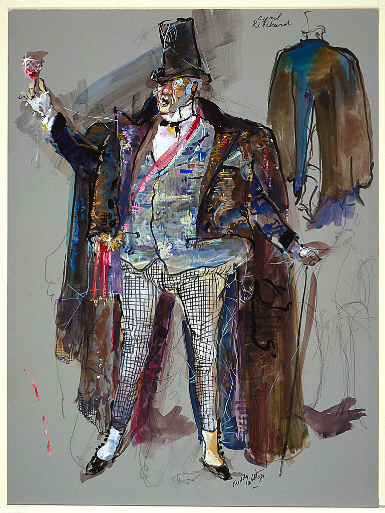 Drawing, Costume Design: Sir, for The Roar of the Grease Paint, the Smell of the Crowd
