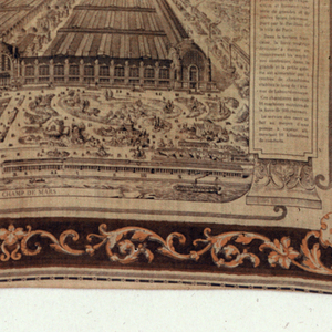 Handkerchief, Vue de L'Exposition Universelle de 1878, 1878
