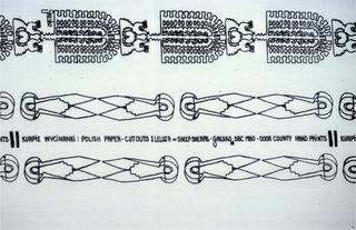 Textile, Polish Paper Cutouts and Sheep Shears