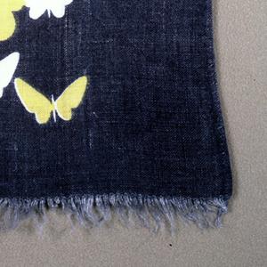 Butterflies on a gray ground.