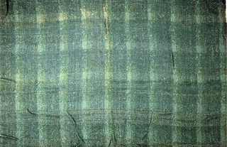 Plaid in shades of green with gold metallic.