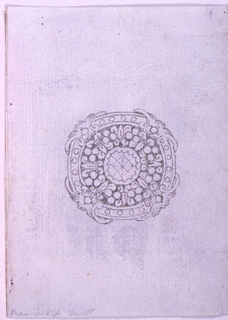Drawing, Design for a brooch, 1825–50