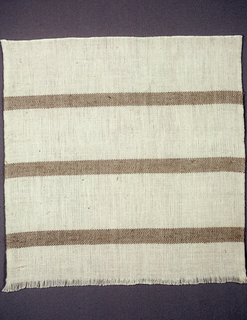 Bands of pattern created by color and structure. Tan and off-white.