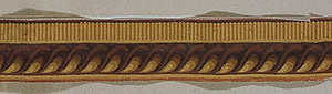 Architectural cable molding over a row of dentilling.  H# 656