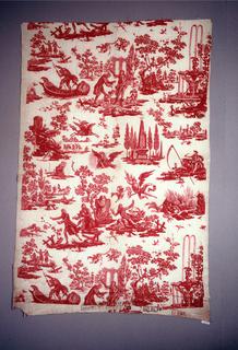 Textile With Chef De Piece, Le Triomphe de Voltaire