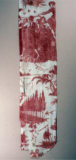 """A second copy of the Petitpierre design, """"le char de l'aurore'. red on white."""