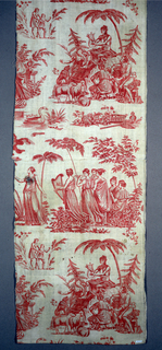 Two vignettes and fragments of others. 1) Shepherd and other figures dressed