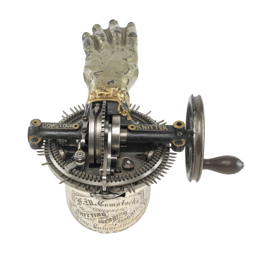 Patent Model For A Knitting Machine, Patent No. 125,543 (USA), April 9, 1872