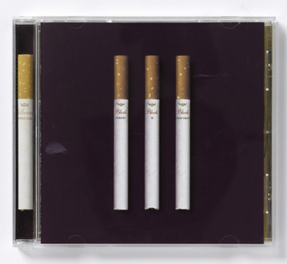 "CD cover design for Jamie Block's ""Timing is Everthing"".  CD case is clear plastic. CD insert folds into four sections. Cover: Color photographic reproduction of three cigarettes with brown filters on marron background.  On each cigarette, imprinted ""Block"" (in red) and each word of the title: ""TIMINIG IS EVERYTING"" (in black). There is one acutal ""Rothman Special"" cigarette in the spine of case.  Opening insert: letter forms spelling the name ""Block"" are depicted as taped together boxes forming block-shaped letters. Inside four pages contain credits, song list, and black and white photographic reproductions of artist at top center, three photographs of smoked cigarettes at lower left, scotch on the rocks at lower right, and city view (roof tops of apartments) at far right.  On yellow background, on one of exterior pages, color photographic reproduction of artist in hot tub and ciagarette.  Back of CD insert: black and white photographic reproductions of ashtray (in aerial perspective), of rhinoceros and of two smoked cigarettes at upper right.  Imprinted at right center: ""PRODUCED BY/ MARK HUTCHINS www.blocknyc.com & JAMIE BLOCK...""(in black handwriting font).   CD: black and white photographic reproduction of ashtray (same one on back of CD insert).   Back of case: divided into 2 by 7 grid on marron background.  Each cell labelled 1through 13 according to track number of CD.  Each cell contains color photographic reproduction of smoked cigarette, elapse time of song, and title. In last cell, imprinted: ""Promotional Use Only/ Not for Sale/ PRODUCED BY/ Mark Hutchins/ & Jamie Block..."" (in white)."