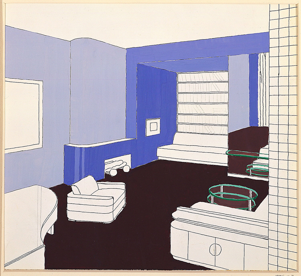 Drawing, Design for Living Room, Frederick and Emily Gash Apartment, 305 West 57th Street, New York, NY