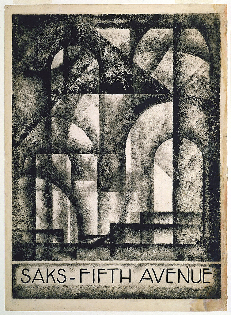 Drawing, Design for Saks Fifth Avenue Advertising Brochure Cover