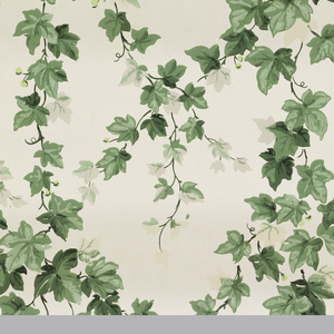 Ivy vines of green shaded with grey running in diagonals to form diamonds on a white ground.