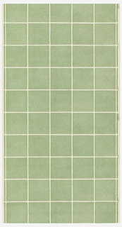 Green squares forming a tile pattern on a white ungrounded paper.